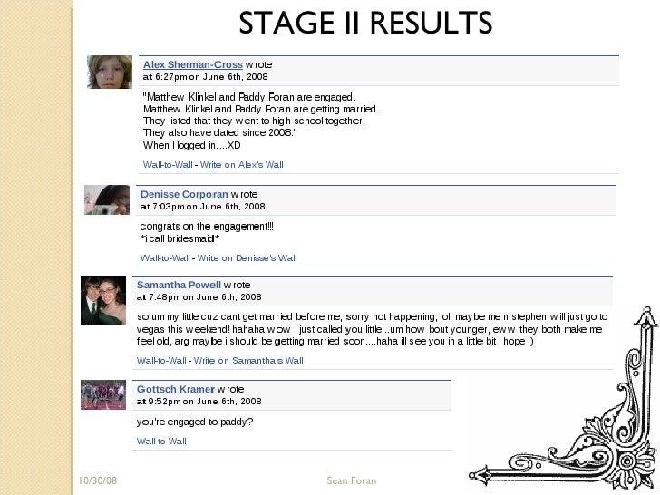 06/05/09 Sean Foran STAGE II RESULTS
