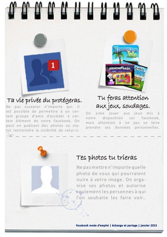 facebook  mode d u0026 39 emploi