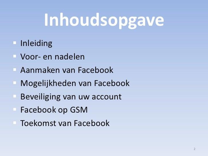 Facebook Presentatie Slide 2