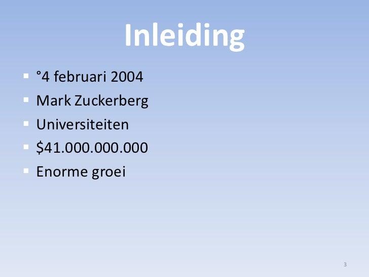 Facebook Presentatie Slide 3