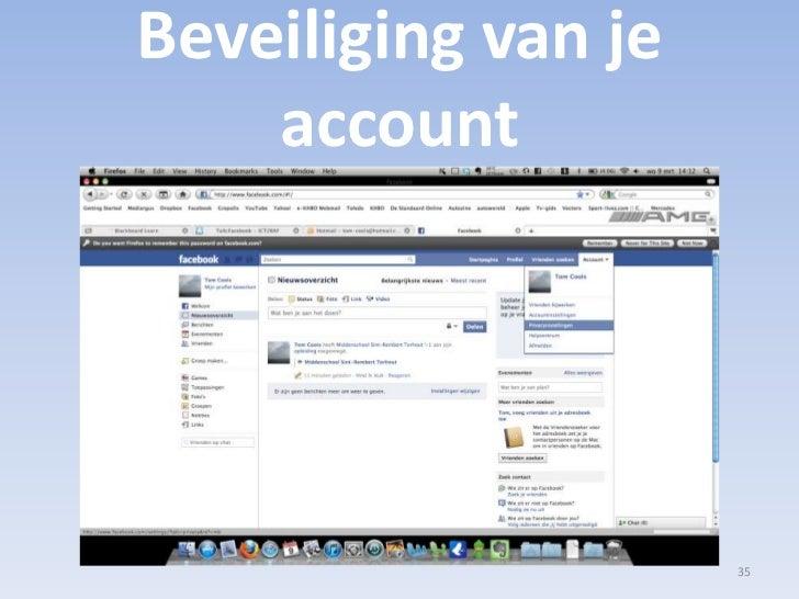 Beveiliging van je account<br />35<br />
