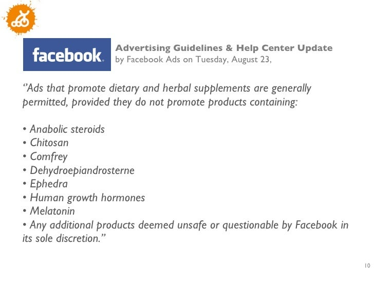 Facebook gambling guidelines