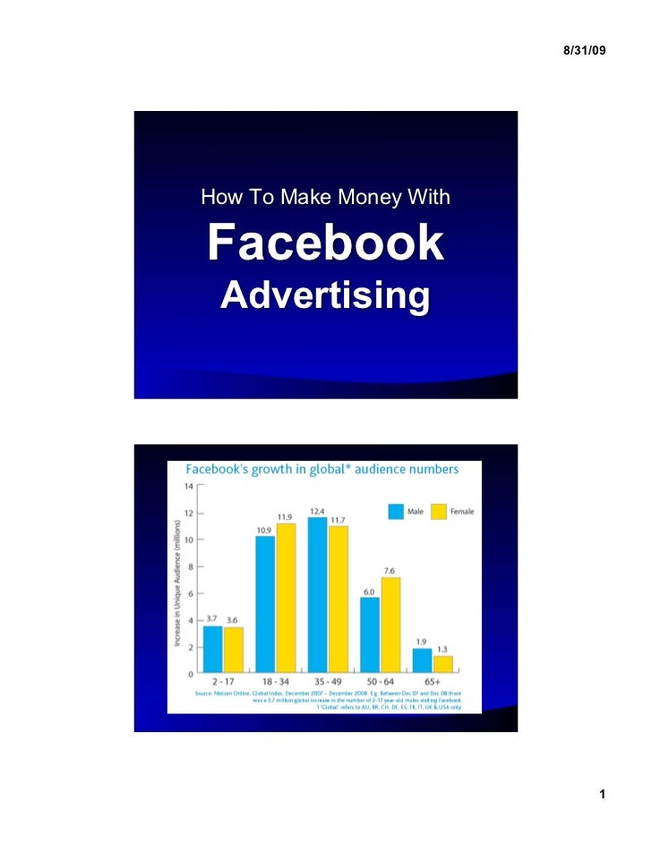 8/31/09How To Make Money WithFacebook Advertising                              1
