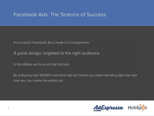 THE SCIENCE BEHIND EFFECTIVE FACEBOOK AD CAMPAIGNS Slide 3