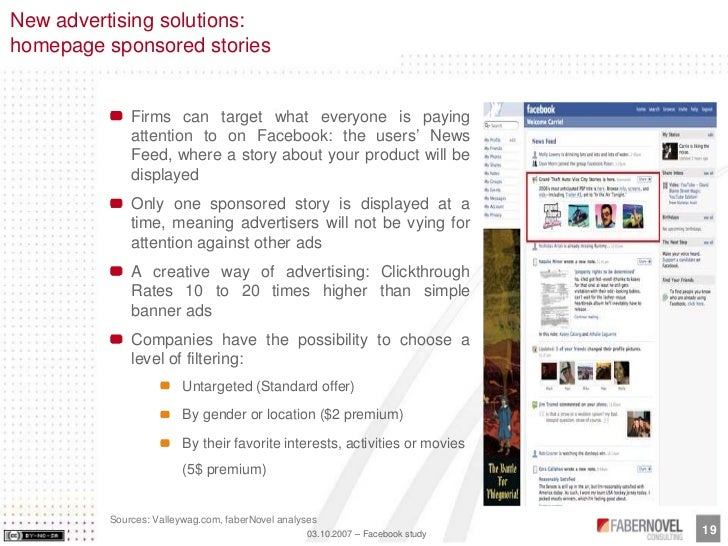 New advertising solutions: homepage sponsored stories                Firms can target what everyone is paying             ...