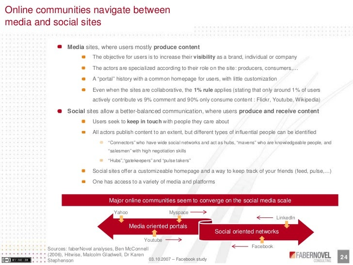 Online communities navigate between media and social sites                   Media sites, where users mostly produce conte...