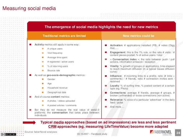 Measuring social media                             The emergence of social media highlights the need for new metrics      ...