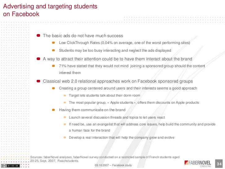 Advertising and targeting students on Facebook                    The basic ads do not have much success                  ...
