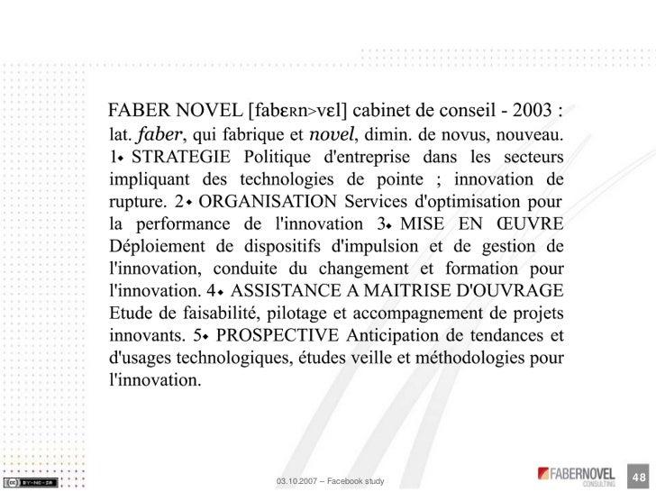 48 03.10.2007 – Facebook study