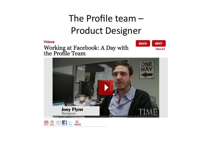 The Profile team – Product Designer