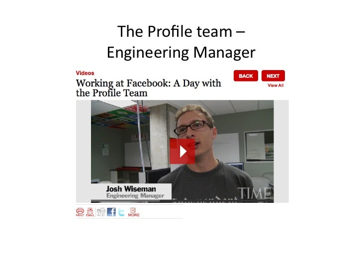 The Profile team – Engineering Manager