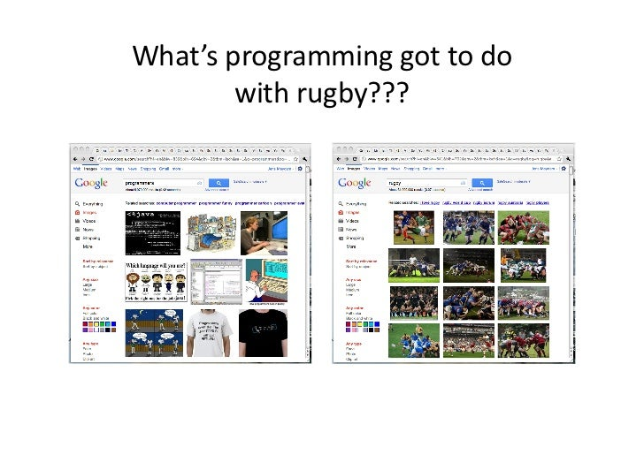 What's programming got to do             with rugby???