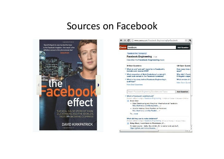 Sources on Facebook