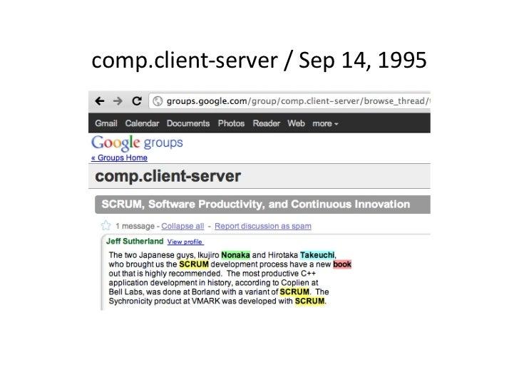 comp.client-‐server / Sep 14, 1995