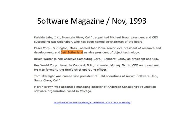 Sopware Magazine / Nov, 1993        h/p://findaracles.com/p/aracles/mi_m0SMG/is_n16_v13/ai_14635699/