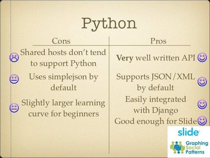 Python Cons Pros Shared hosts