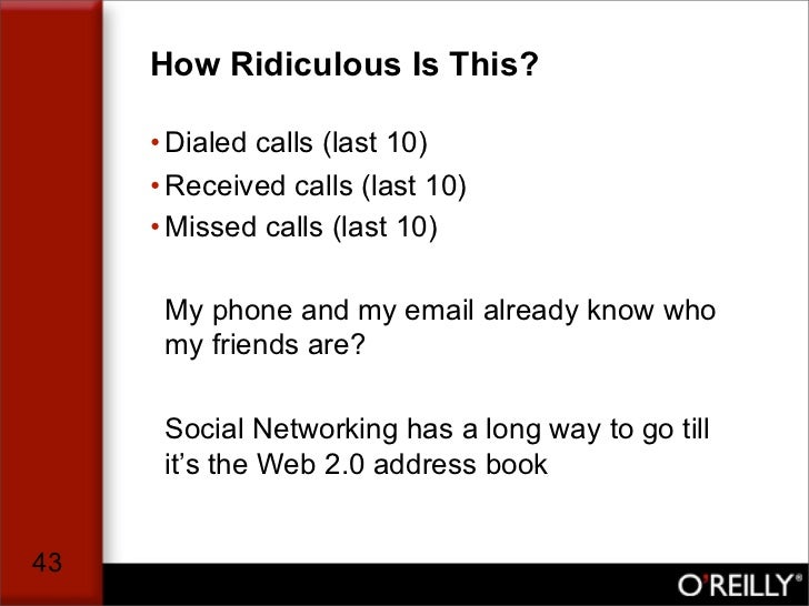 How Ridiculous Is This?       • Dialed calls (last 10)      • Received calls (last 10)      • Missed calls (last 10)      ...