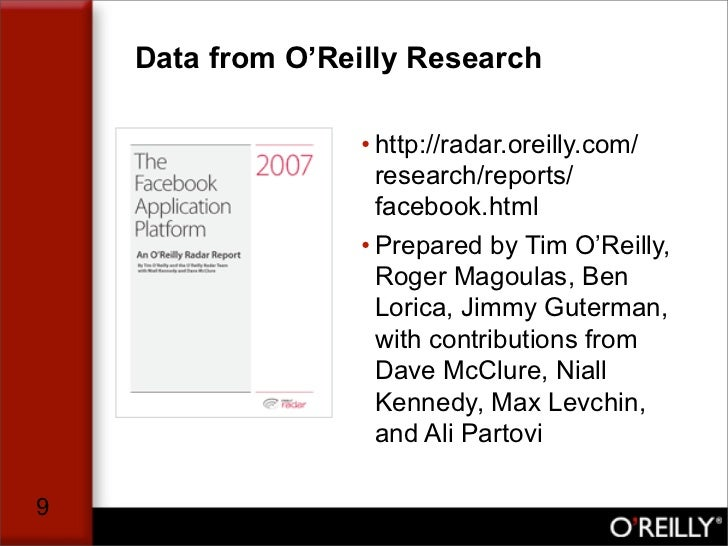 Data from O'Reilly Research                    • http://radar.oreilly.com/                     research/reports/          ...