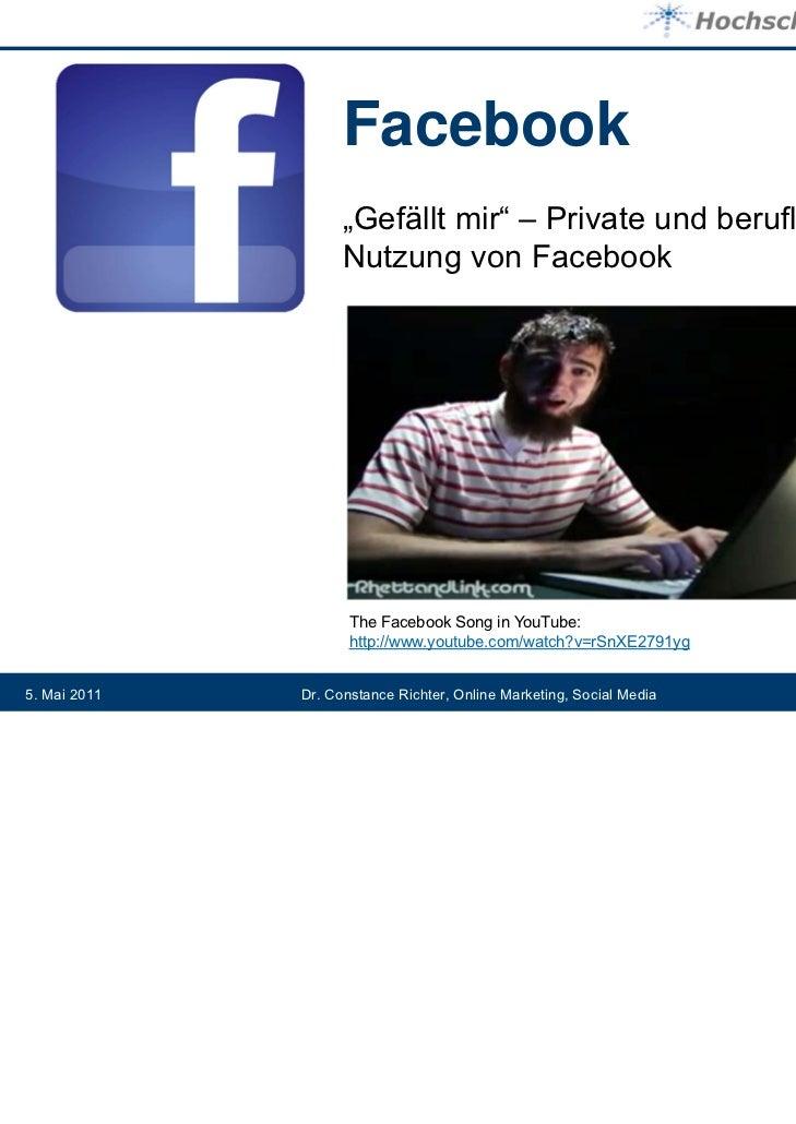 """Facebook                    """"Gefällt mir"""" – Private und berufliche                    Nutzung von Facebook                ..."""