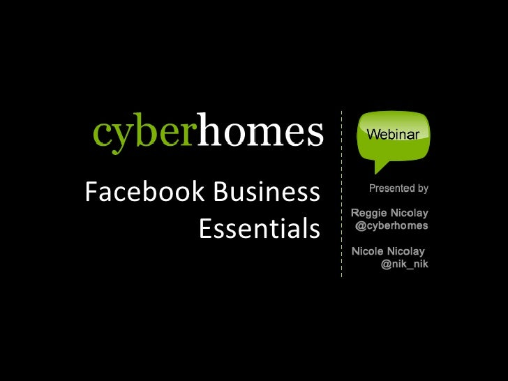 Facebook Business        Essentials