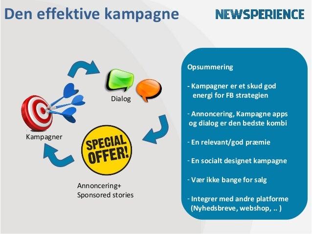 Den effektive kampagne                                  Opsummering                                  - Kampagner er et sku...