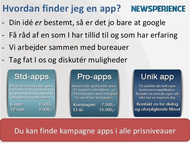 Hvordan finder jeg en app?-   Din idé er bestemt, så er det jo bare at google-   Få råd af en som I har tillid til og som ...