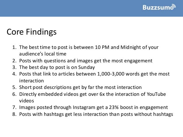 How To Improve Facebook Engagement: Insights from 1bn Posts Slide 3