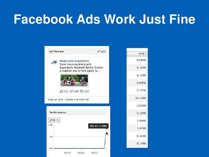 Facebook Ads Work Just Fine