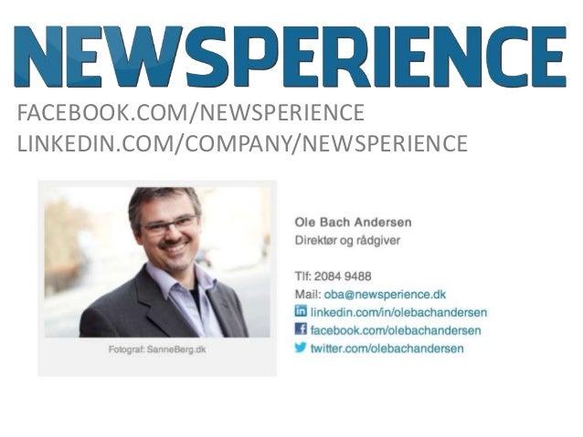 FACEBOOK.COM/NEWSPERIENCELINKEDIN.COM/COMPANY/NEWSPERIENCE