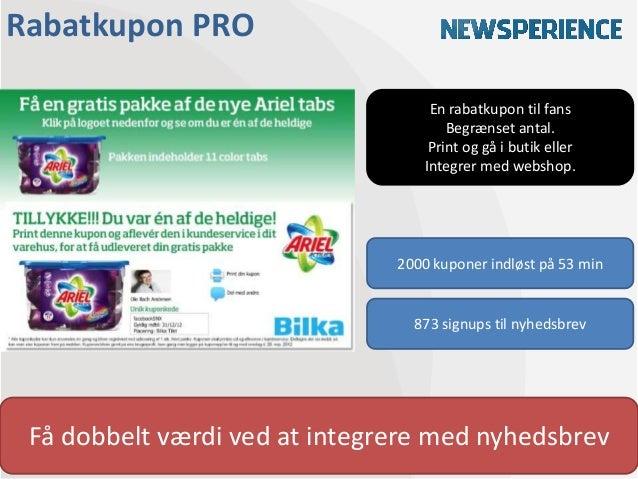 Rabatkupon PRO                                   En rabatkupon til fans                                      Begrænset ant...