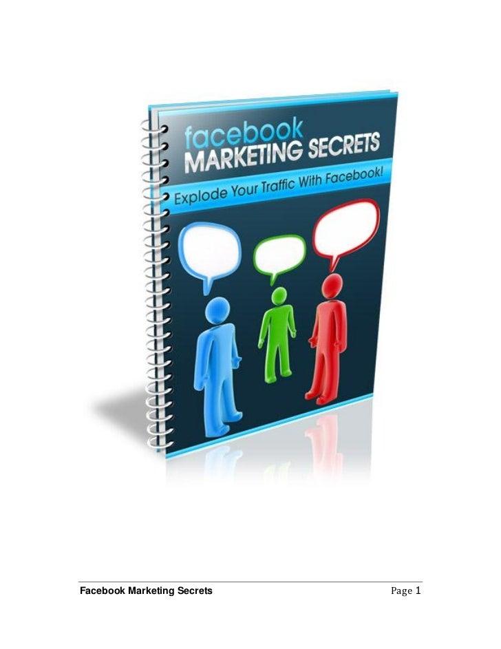 Facebook Marketing Secrets   Page 1