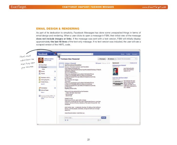 exacttarget snapshot: Facebook Messages                                          www.ExactTarget.comTo view the full email...