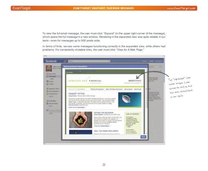 exacttarget snapshot: Facebook Messages                                               www.ExactTarget.comIn summary, it's ...