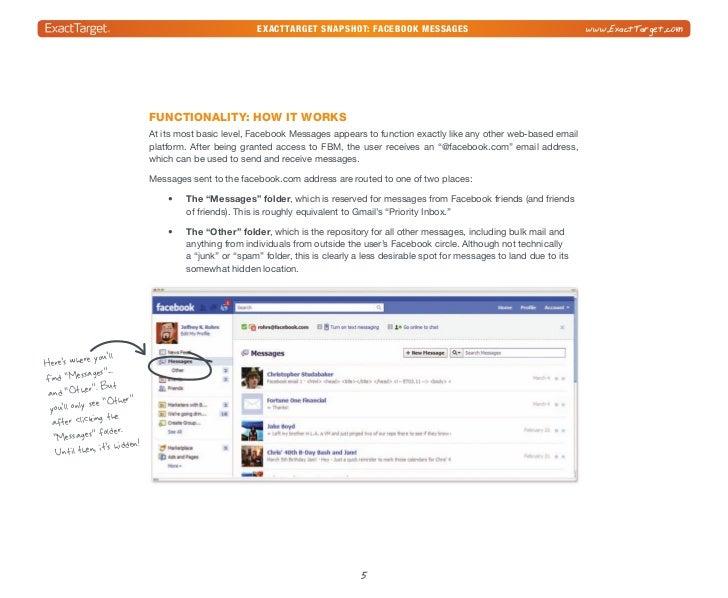 exacttarget snapshot: Facebook Messages                                              www.ExactTarget.com                  ...