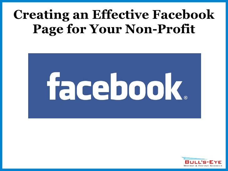 Creating an Effective Facebook Page for Your Non-Profit