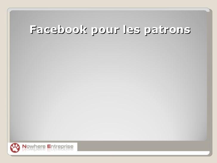 Facebook pour les patrons
