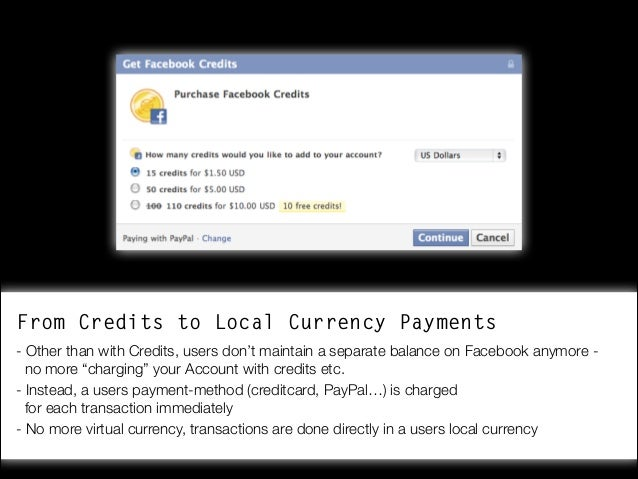 Facebook Payments for Developers