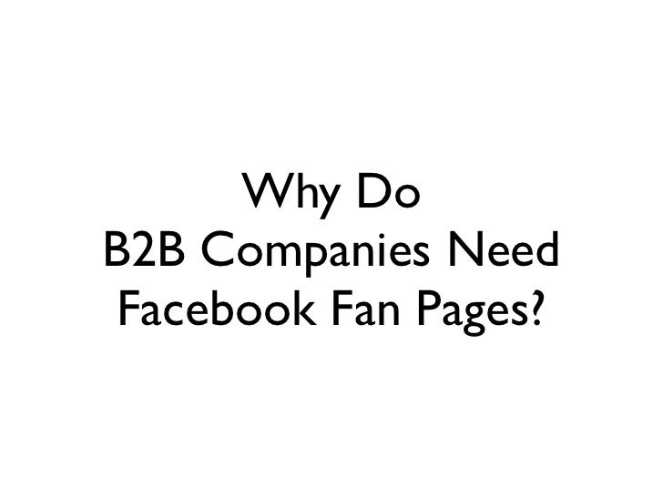 10 Examples of B2B Facebook Fan Pages Slide 2