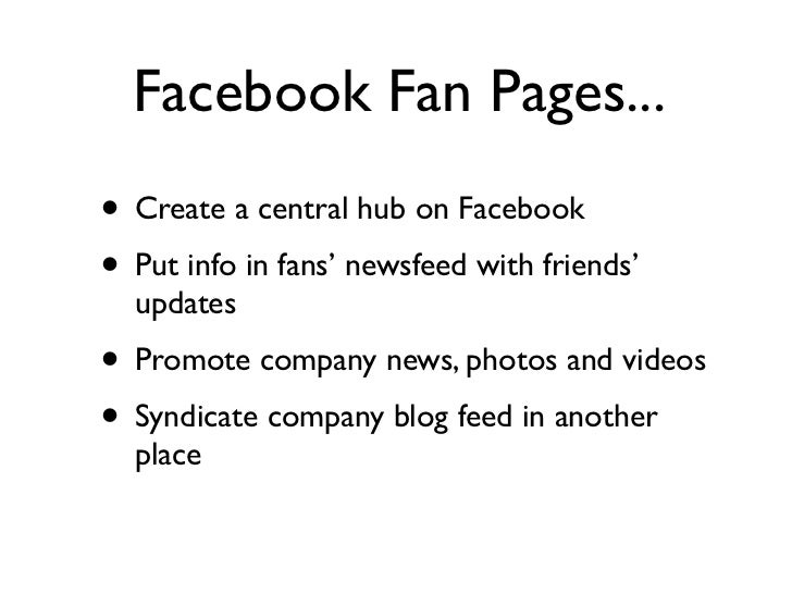 10 Examples of B2B Facebook Fan Pages Slide 3