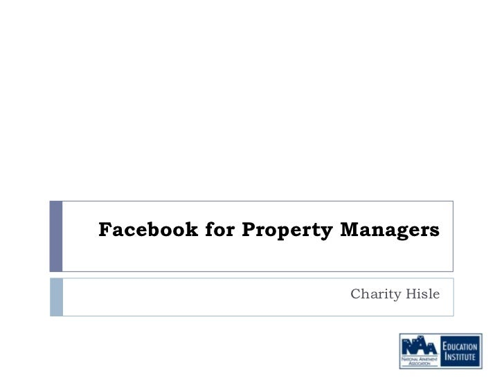 Facebook for Property Managers                      Charity Hisle