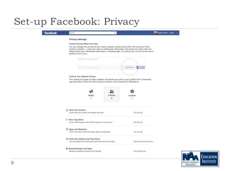 Set-up Facebook: Privacy
