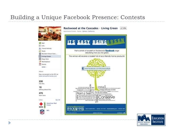 Building a Unique Facebook Presence: Contests