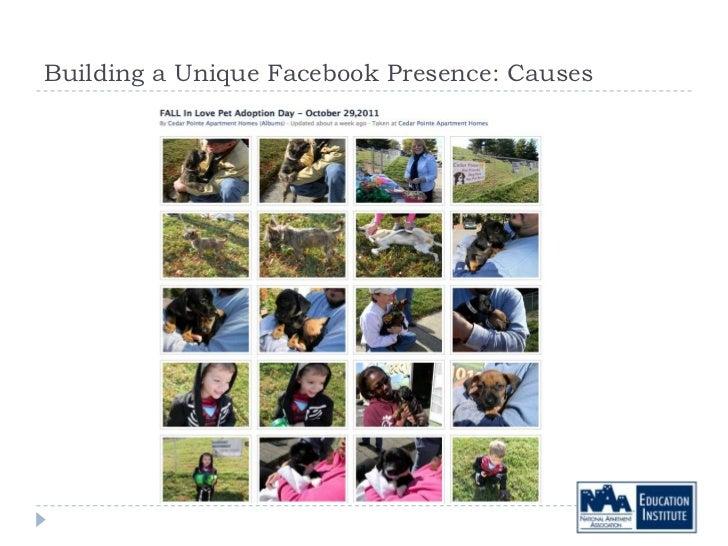Building a Unique Facebook Presence: Causes