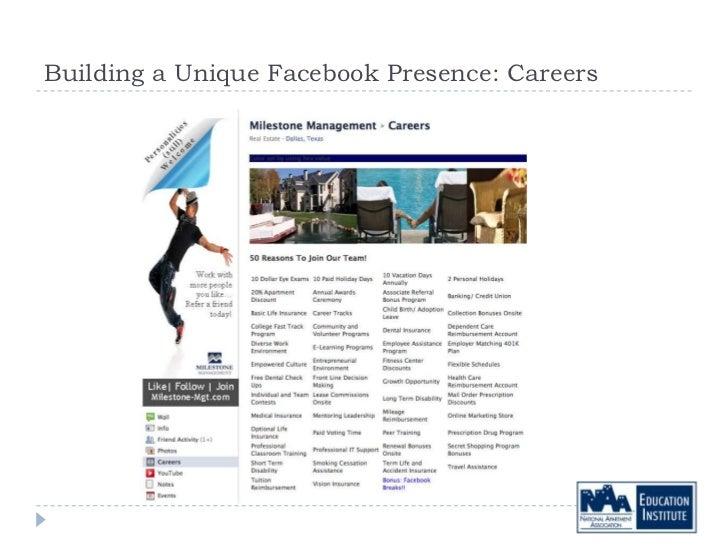 Building a Unique Facebook Presence: Careers