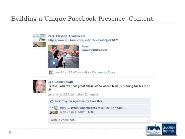 Building a Unique Facebook Presence: Content