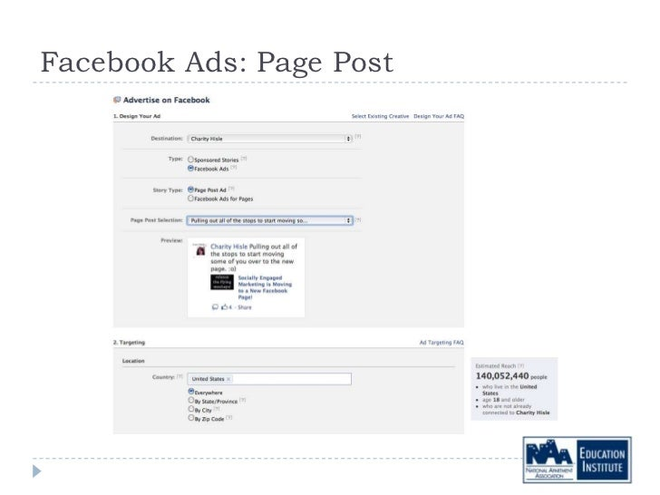 Facebook Ads: Page Post