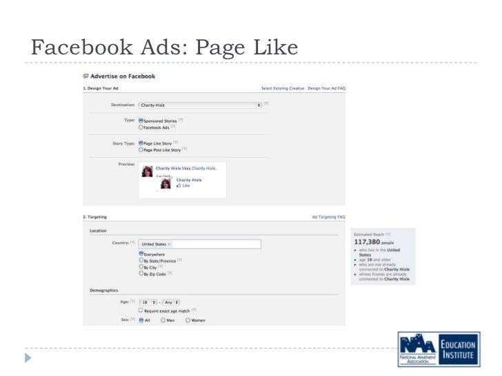Facebook Ads: Page Like