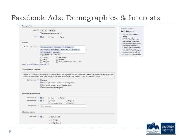 Facebook Ads: Demographics & Interests