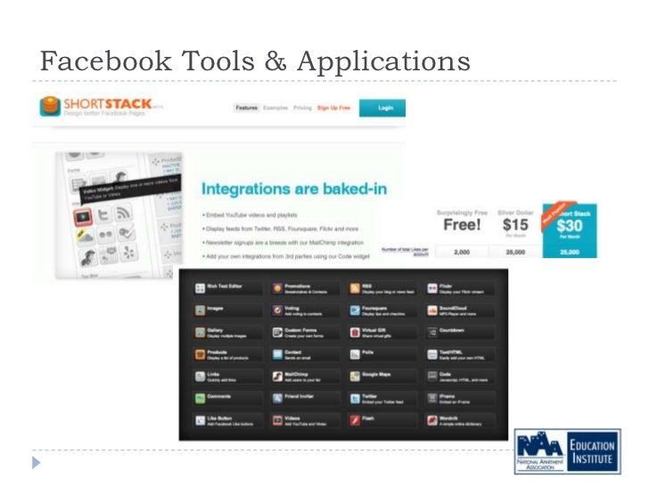 Facebook Tools & Applications