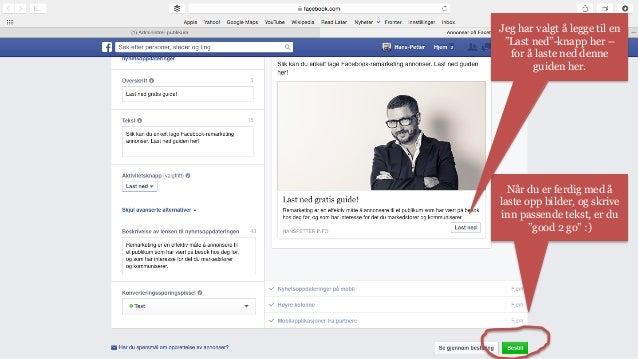 Her finner du din nye  Facebook-remarketing-annonse,  med full  innsiktsoversikt.